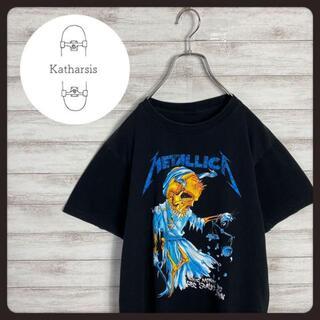 【入手困難】90s メタリカ 両面プリント スカルロゴ ブラック バンドTシャツ(Tシャツ/カットソー(半袖/袖なし))