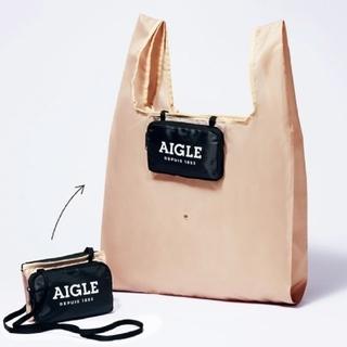 エーグル(AIGLE)のグロウ 6月号エーグル ポシェット&エコバッグ、メッシュバッグ&ポーチのセット(エコバッグ)