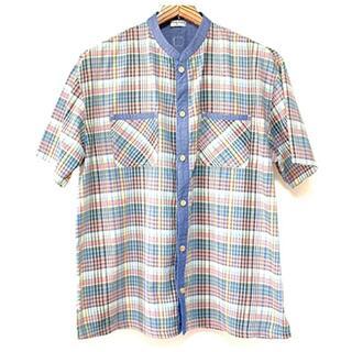未使用■ブランシェス■チェックの半袖シャツ