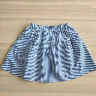 familiar - ファミリア ☆ ストライプ柄 リボン スカート  120