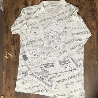 セガ(SEGA)のSEGA セガ Tシャツ 半袖 歴代セガゲーム機 総柄 プリント(Tシャツ/カットソー(半袖/袖なし))