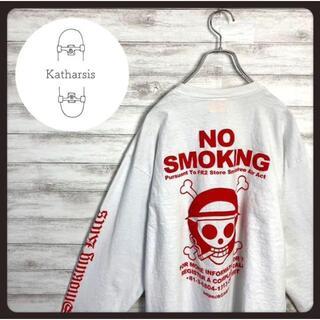 【入手困難】FR2×ワンピース コラボ バックプリント スリーブロゴ ロンT(Tシャツ/カットソー(七分/長袖))