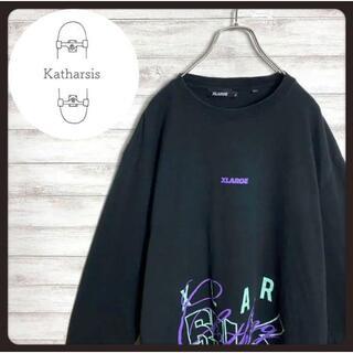 エクストララージ(XLARGE)の【入手困難】エクストララージ ブラック 超大猩猩ロゴ ビックサイズ ロンT(Tシャツ/カットソー(七分/長袖))