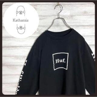 ハフ(HUF)の【入手困難】HUF ハフ ブラック ボックスロゴ スリーブロゴ ロンT(Tシャツ/カットソー(七分/長袖))