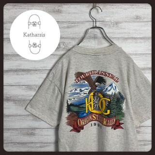 【USA製】90s ハーレーダビッドソン ファルコン バックプリント Tシャツ(Tシャツ/カットソー(半袖/袖なし))