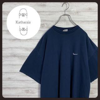 ナイキ(NIKE)の【USA製】90s ナイキ ワンポイント刺繍 ネイビー ビックサイズ Tシャツ(Tシャツ/カットソー(半袖/袖なし))