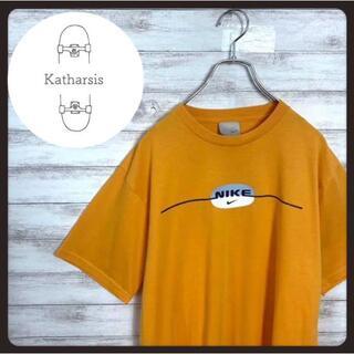 ナイキ(NIKE)の【希少カラー】90s ナイキ オレンジ スウォッシュ センターロゴ Tシャツ(Tシャツ/カットソー(半袖/袖なし))