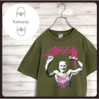 ステューシー(STUSSY)の【USA製】90s オールドステューシー グリーン プリントロゴ Tシャツ(Tシャツ/カットソー(半袖/袖なし))