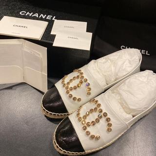 CHANEL - 美品 シャネル CHANEL エスパドリーユ 37 23.5cm ホワイト