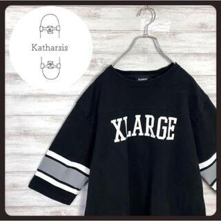 エクストララージ(XLARGE)の【入手困難】エクストララージ ブラック デカロゴ コットン ゲームシャツ(トレーナー/スウェット)
