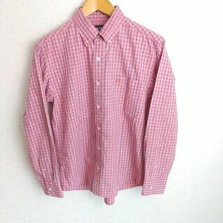 マックレガー(McGREGOR)のMCGREGOR マックレガー 長袖 チェック柄 BDシャツ レッド系×グレー(シャツ)