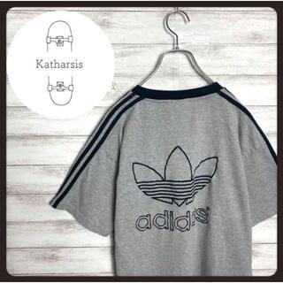 アディダス(adidas)の【入手困難】90s アディダス トレフォイル刺繍ロゴ スリーライン Tシャツ(Tシャツ/カットソー(半袖/袖なし))