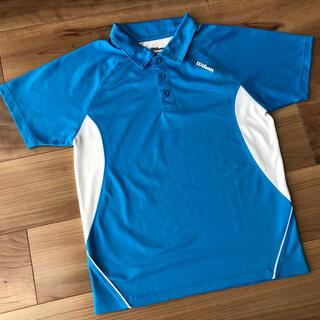 ウィルソン(wilson)のWilsonウィルソン テニスウェア ジュニア 140 ゲームシャツ ブルー(ウェア)