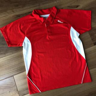 ウィルソン(wilson)のWilsonウィルソン テニスウェア ジュニア 140 ゲームシャツ 赤(ウェア)