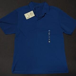 ムジルシリョウヒン(MUJI (無印良品))の新品 無印良品 半袖ポロシャツ 紺 Sサイズ(ポロシャツ)