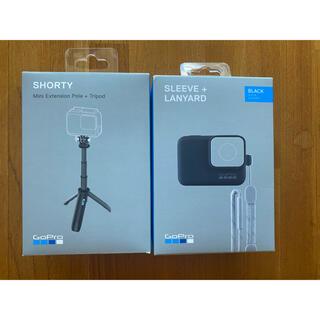 GoPro - 美品 GoPro SHORTY  SLEEVE+LANYARD 2個セット
