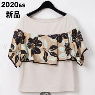 グレースコンチネンタル(GRACE CONTINENTAL)の新品 グレースコンチネンタル アシメフラワースカーフTシャツ(Tシャツ(半袖/袖なし))