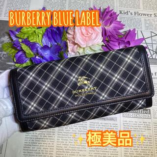 BURBERRY BLUE LABEL - 極美品✨ BURBERRY バーバリー ノバチェック キャンバス×レザー 長財布