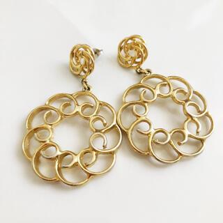 アッシュペーフランス(H.P.FRANCE)のRetro * gold around motif pierce(ピアス)