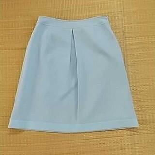クレージュ(Courreges)のクレージュ スカート ブルー 水色 40 L タイトスカート フレアスカート(ひざ丈スカート)