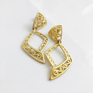 アッシュペーフランス(H.P.FRANCE)のRetro * mat gold pierce(ピアス)