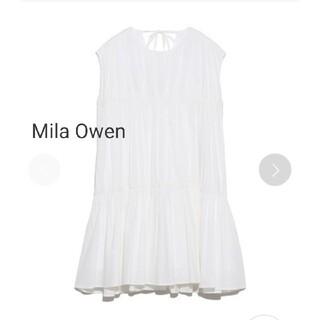 ミラオーウェン(Mila Owen)のMila Owenバックリボンデザインティアードトップス(シャツ/ブラウス(半袖/袖なし))