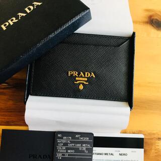 PRADA - PRADA プラダ カードケース パスケース サフィアーノ   黒
