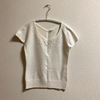 ロディスポット(LODISPOTTO)の♡ストーンサマーニット トップス♡(カットソー(半袖/袖なし))