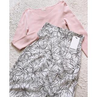 スナイデル(snidel)のsnidel♡フラワーナロースカート(ひざ丈スカート)