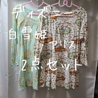 UNIQLO - ディズニー アリス 白雪姫 Tシャツ 2点セット UNIQLO