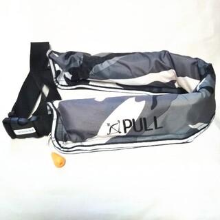 ライフジャケット 手動式 自動膨張 インフレータブル 腰 ベルトタイプ 釣り(ウエア)