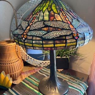 アンティーク ステンドグラス ランプ トンボ 卓上ライト