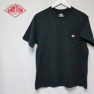 ダントン(DANTON)のDANTON ダントン ポケット付き 半袖 Tシャツ ロゴ 刺繍 ワッペン 黒(Tシャツ/カットソー(半袖/袖なし))
