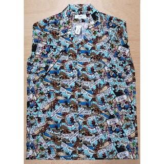 ディズニー(Disney)のディズニーリゾート限定 アロハシャツ アメコミ柄 Mサイズ(シャツ/ブラウス(半袖/袖なし))