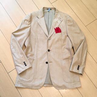 バーバリー(BURBERRY)のバーバリー×スエード調生地 極上ベージュジャケット 人工皮革 薄茶 A245(テーラードジャケット)