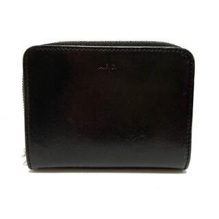アーペーセー(A.P.C)のアーペーセー 2つ折り財布 黒 レザー(財布)