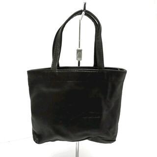 ヨウジヤマモト(Yohji Yamamoto)のヨウジヤマモト ハンドバッグ美品  - 黒(ハンドバッグ)