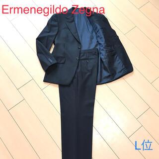 エルメネジルドゼニア(Ermenegildo Zegna)のエルメネジルドゼニア★ブラック織り セットアップスーツ 総裏 黒 48 A983(セットアップ)