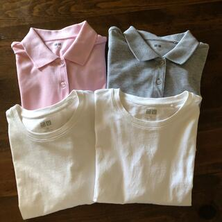 ユニクロ(UNIQLO)のUNIQLO ポロシャツ、Tシャツ レディースMサイズ(ポロシャツ)