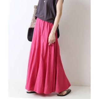 FRAMeWORK - 2021SS スピック&スパン フレームワーク 赤ピンク製品染め切り替えスカート