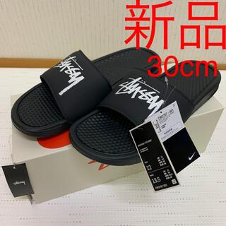 STUSSY - 30cm ステューシー ナイキ ベナッシ 黒 白 新品 stussy nike