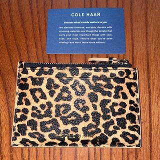Cole Haan - 【新品】コールハーン レザー カードケース コインケース レオパード