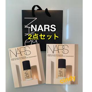 ナーズ(NARS)の【サンプル品】NARS シアーグローファデーション 2点セット(サンプル/トライアルキット)