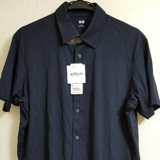 UNIQLO - UNIQLO 新品 メンズ エアリズム フルオープンポロシャツ