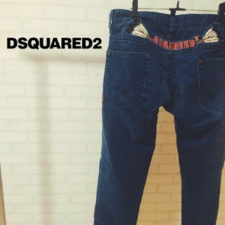 ディースクエアード(DSQUARED2)のレア ビッグロゴ ディースク エアード ジーンズ メンズ デニム パンツ(デニム/ジーンズ)
