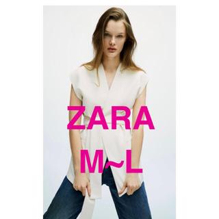 ZARA - 新品未使用 ZARA ベルテッド オーバーサイズ ベスト
