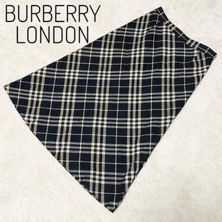 バーバリー(BURBERRY)の【上品】Burberry  バーバリーロンドン ノバチェック ロングスカート(ロングスカート)