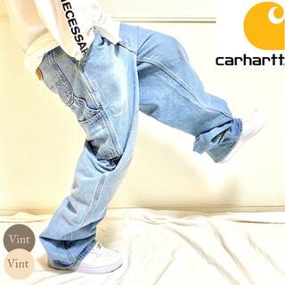 カーハート(carhartt)のメキシコ製 カーハート ペインター ワイド デニムパンツ  バギーパンツ Y2K(デニム/ジーンズ)