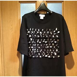 ヨーカン(YOKANG)の桜色のくちべに様専用 Takara.  ビッグTシャツ 前フリルドット柄 (Tシャツ(半袖/袖なし))