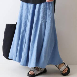FRAMeWORK - 今季完売 フレームワーク 製品染め切り替えスカート サックスブルー 36